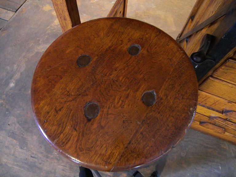Vintage Drafting Lab Table Or Desk With Swing Out Seat
