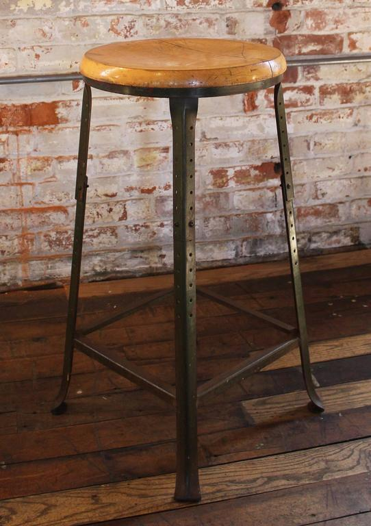 Superb Shop Bar Stool Vintage Industrial Backless Wood And Metal Caraccident5 Cool Chair Designs And Ideas Caraccident5Info