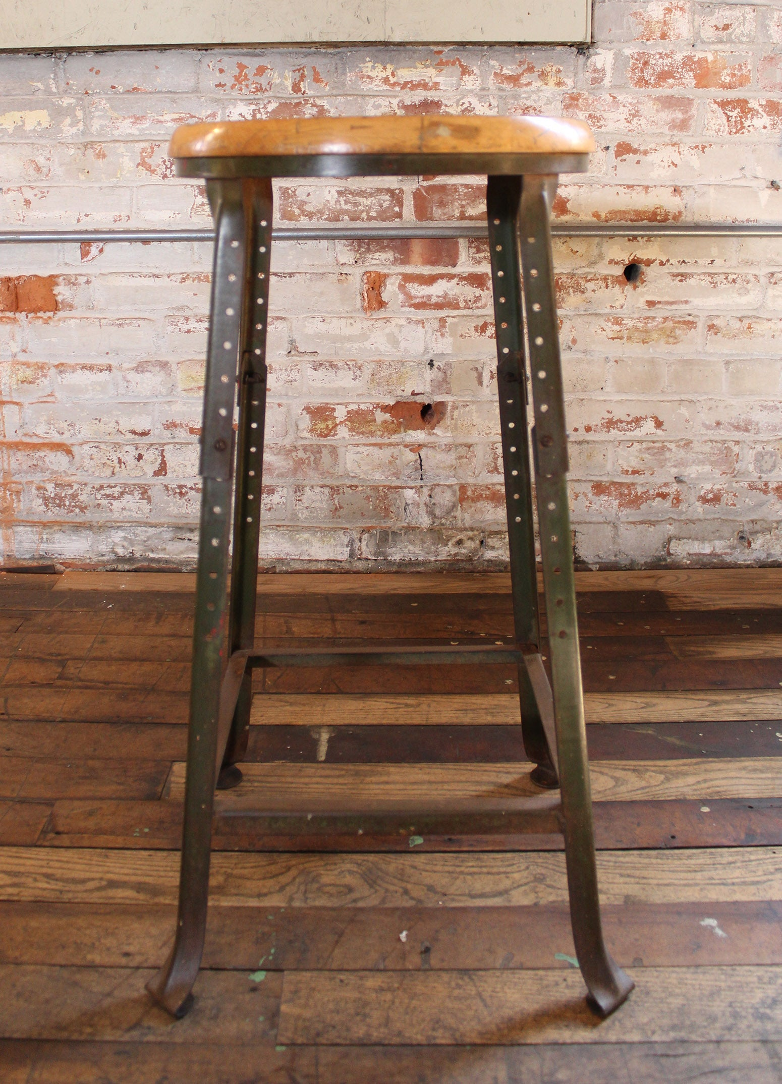 Cool Shop Bar Stool Vintage Industrial Backless Wood And Metal Creativecarmelina Interior Chair Design Creativecarmelinacom