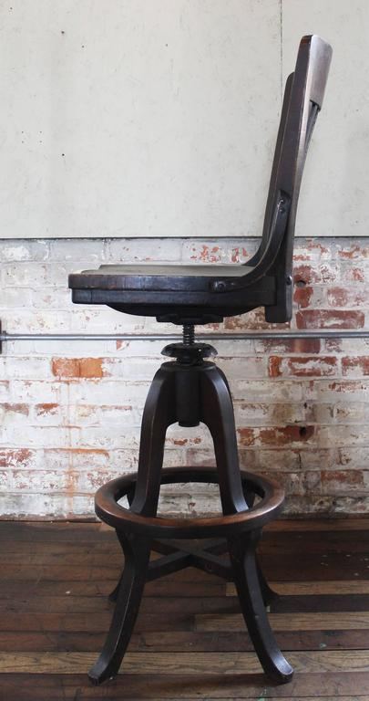 Clark And Gibby Drafting Draftsman Stool Wood And Metal