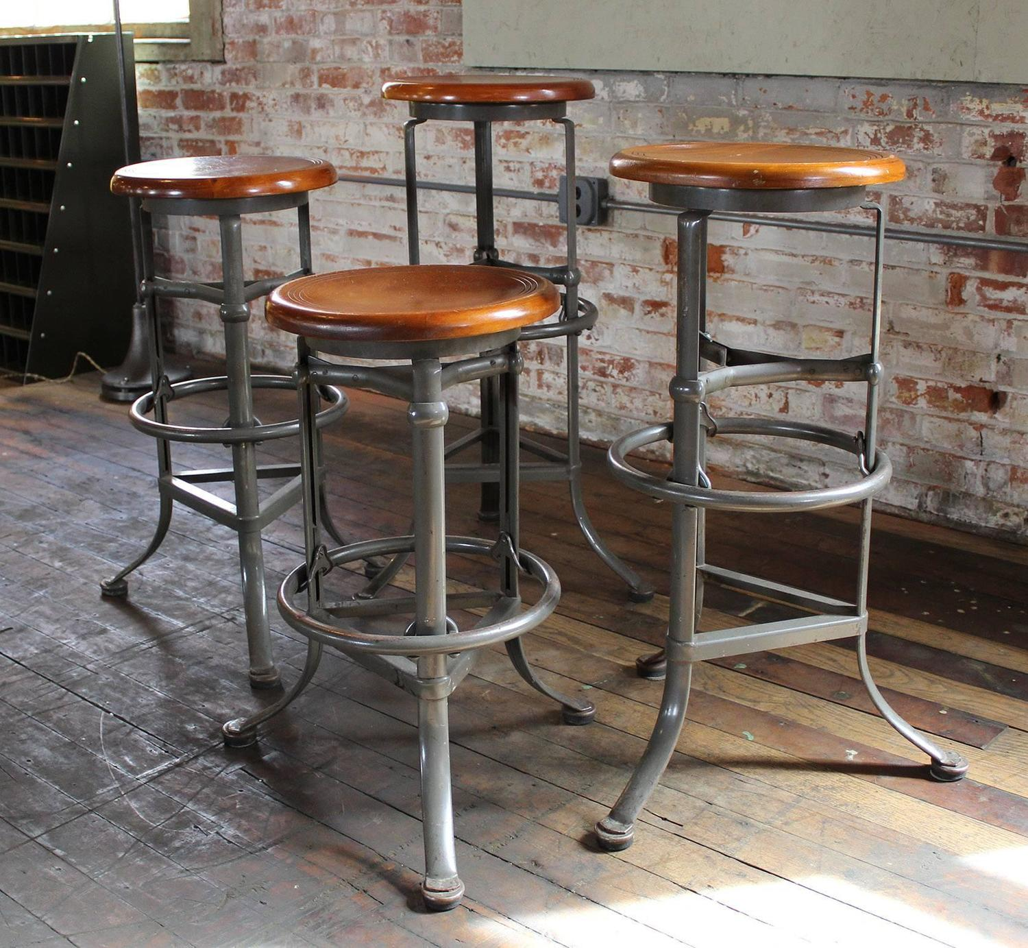 at rite adjustable industrial stools stool of automatic vintage id bar hite z furniture set seating wood f four metal