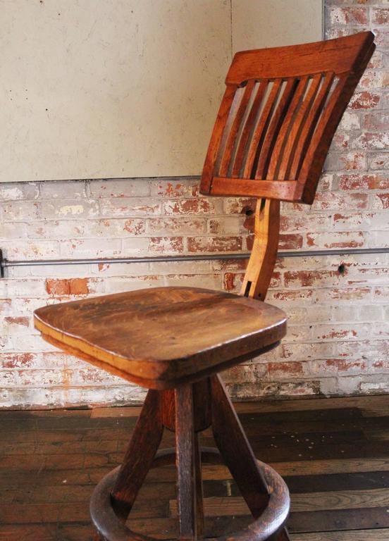 Vintage Industrial Wood And Cast Iron Adjustable Drafting