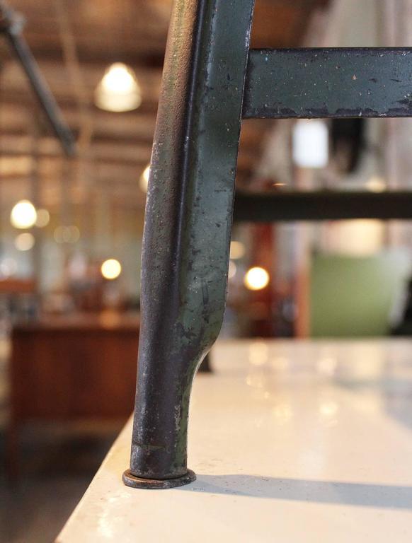 Vintage Industrial Metal Machine Age Factory Shop Backless