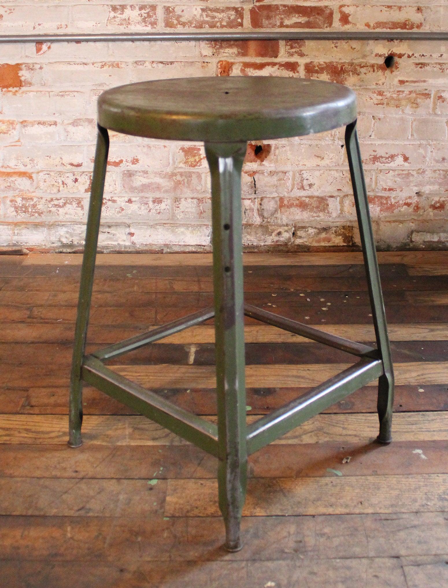 Wondrous Vintage Industrial Metal Machine Age Factory Shop Backless Stool Seat Creativecarmelina Interior Chair Design Creativecarmelinacom
