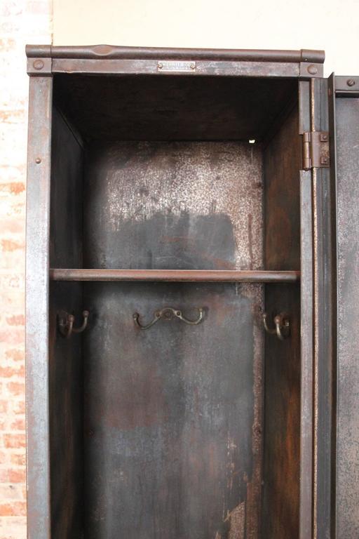 Vintage Industrial Factory Metal Locker Old Steel Storage