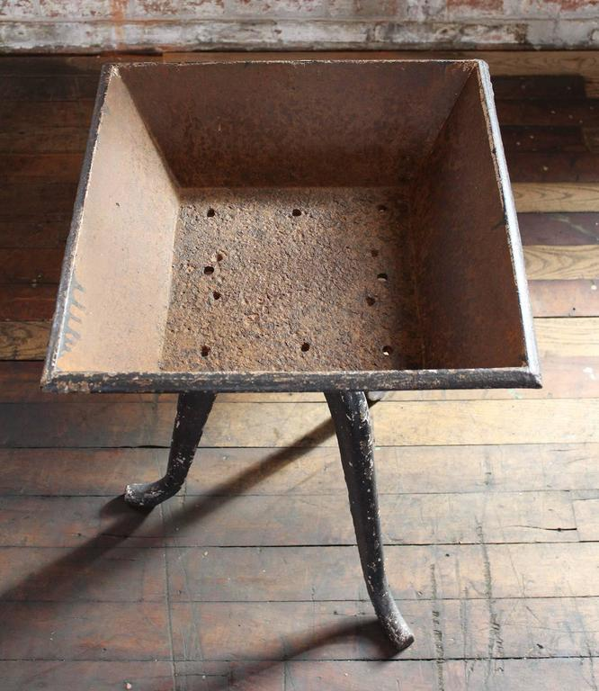 Rustic Vintage Industrial Cast Iron Planter, Stand Table Art 7