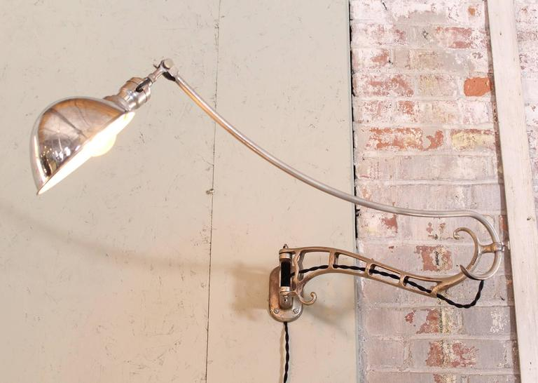 Modern Faries Wall Lamp, Vintage Industrial Adjustable Reading Light Sconce For Sale at 1stdibs