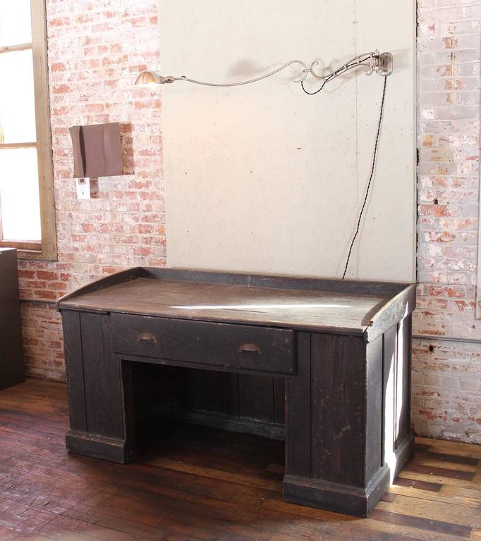 Vintage Industrial Wooden Hardware Store Counter Clerk S