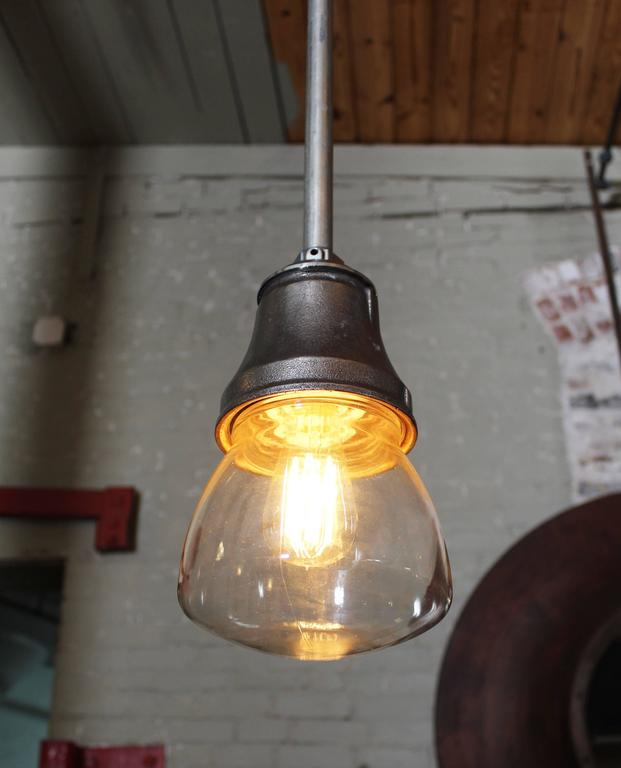 Pendant Lamp Light Steampunk Vintage Industrial Iron Steel Glass Hanging Ceiling 2