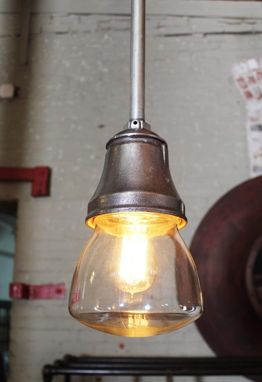 Pendant Lamp Light Steampunk Vintage Industrial Iron Steel Glass Hanging Ceiling 3