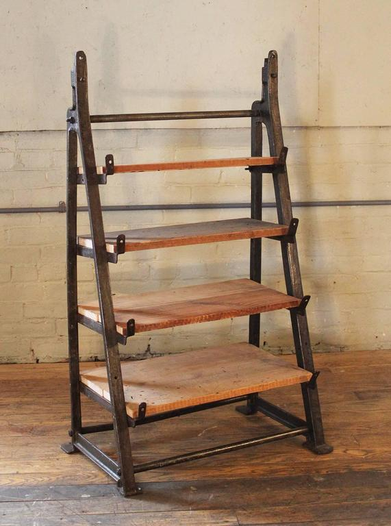 Brand new Vintage Industrial Custom Factory Cast Iron Wood Shelving, Shelf  BF95