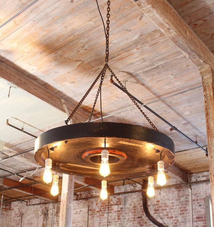 American Chandelier Vintage Industrial Hanging Pendant Lighting Six Edison Bulbs For Sale