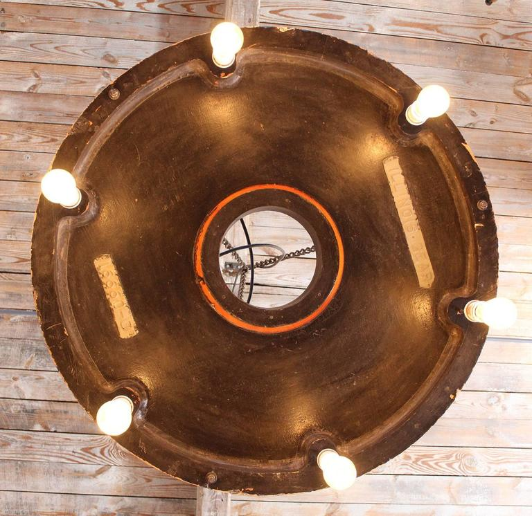 Chandelier Vintage Industrial Hanging Pendant Lighting Six Edison Bulbs For Sale 2
