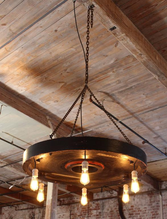 Chandelier Vintage Industrial Hanging Pendant Lighting Six Edison Bulbs For Sale 4