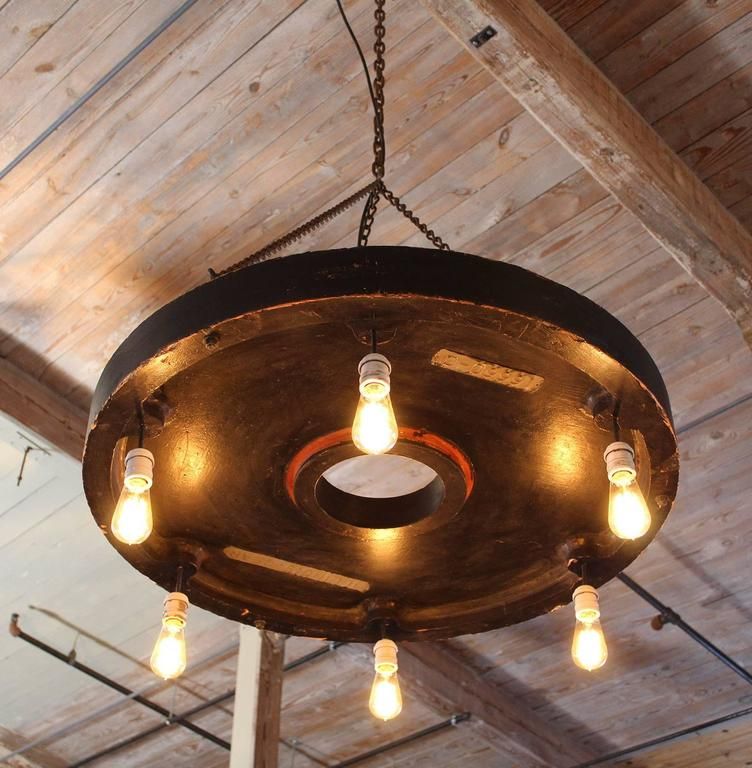 Chandelier Vintage Industrial Hanging Pendant Lighting Six Edison Bulbs For Sale 5