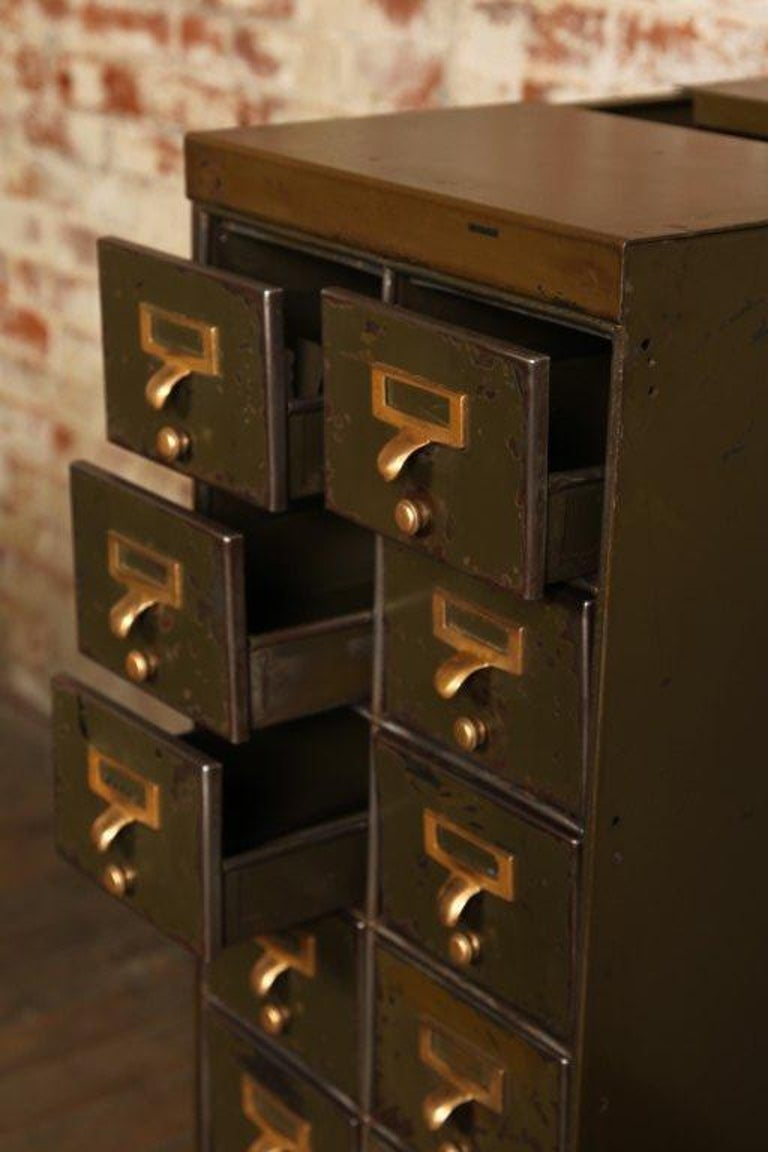 Steel Multi Drawer Army Green Factory Storage Filing