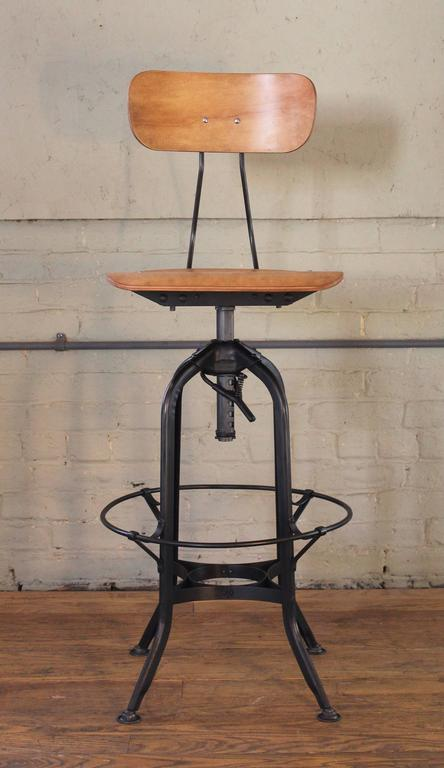 Toledo Bar Stool Vintage Industrial Bent Plywood And