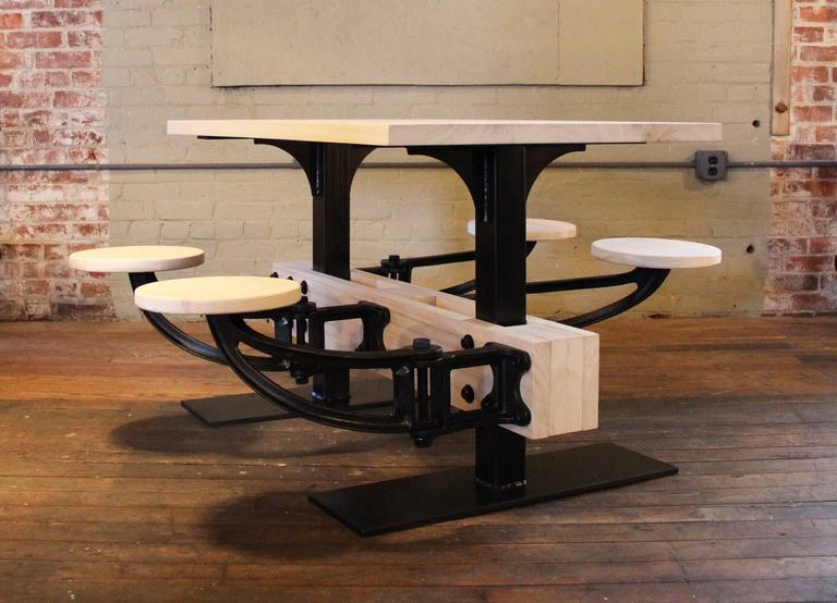 Bespoke Dining Table W Attached Seating Kitchen