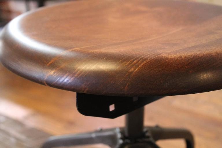 Steampunk Vintage Industrial Adjustable Toledo Wood Metal