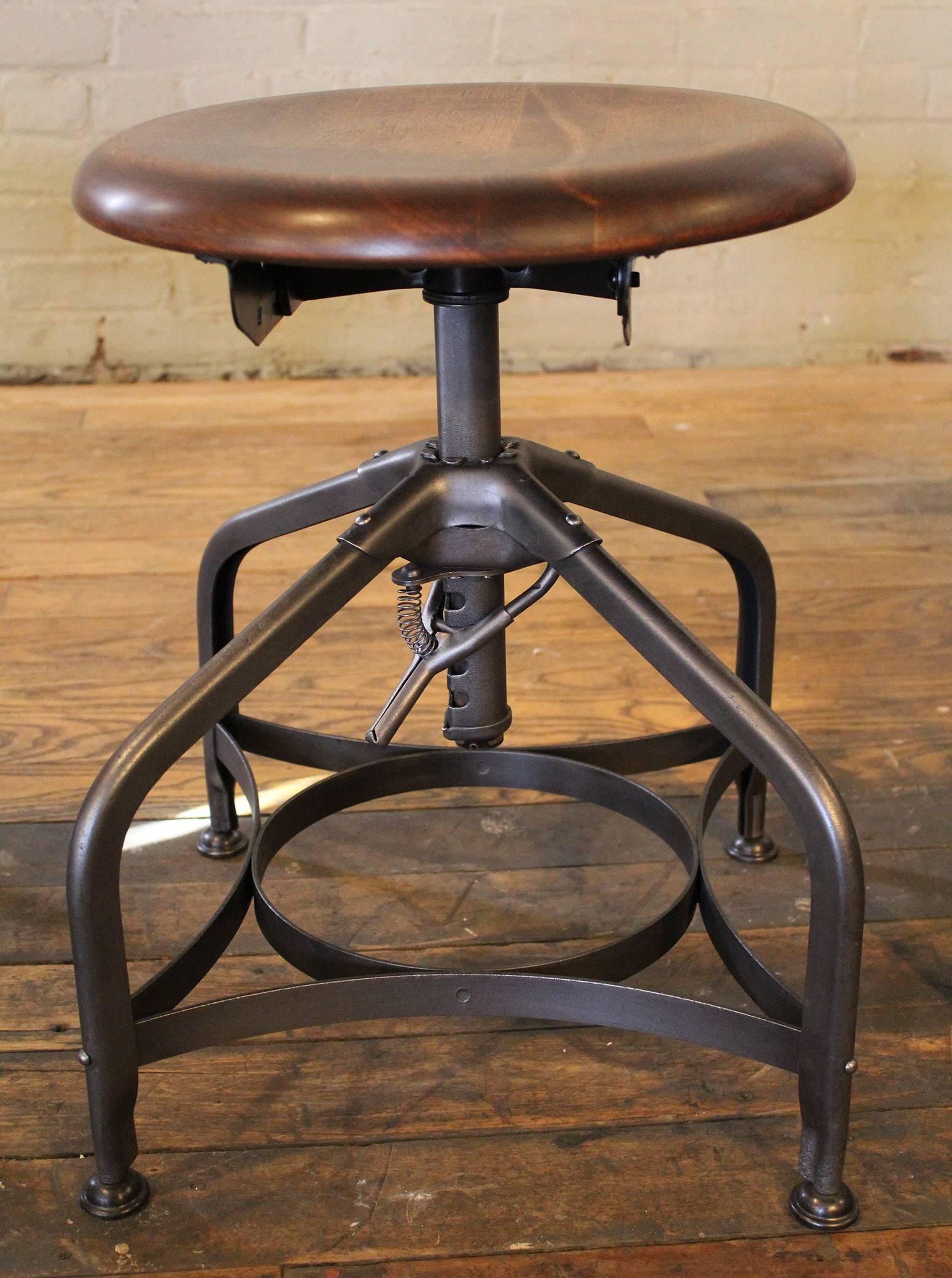 seating furniture getbackinc id at wood stools steampunk industrial master adjustable shop for vintage toledo factory f metal stool sale