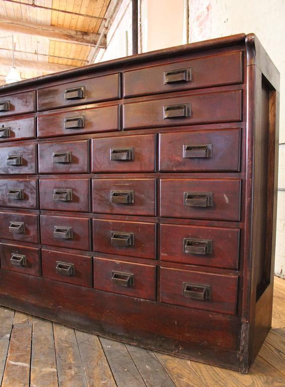 Apotheker Schrank Vintage Industrieller Holz Eisenwaren