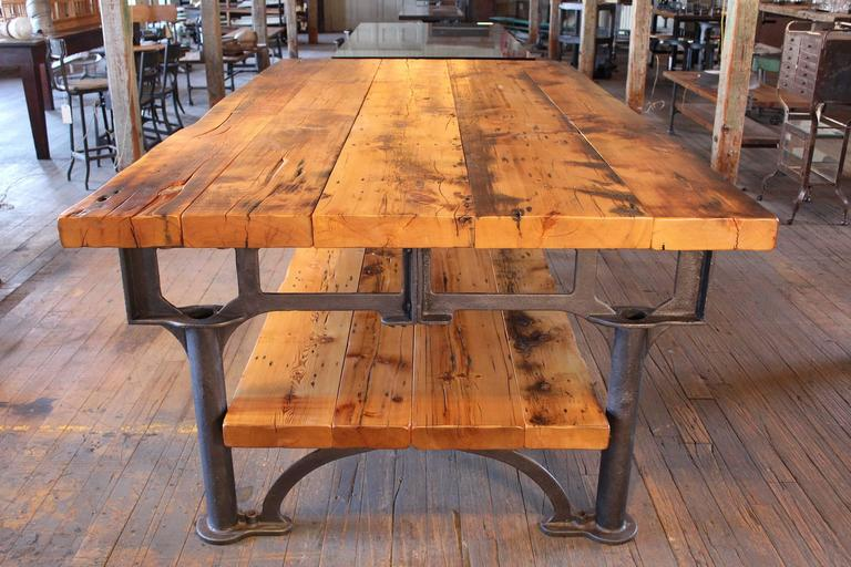 Harvest Kitchen Table Industrial reclaimed wood harvest kitchen island great table for american industrial reclaimed wood harvest kitchen island great table for sale workwithnaturefo
