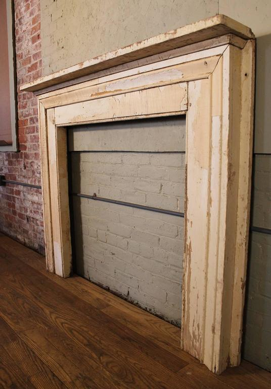 Antique Fireplace Mantle Vintage Rustic Distressed Painted ...