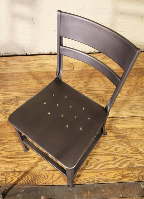 20th Century Dining Chair, Seat Vintage Industrial Mid Century Modern Steel / Metal Toledo  For Sale