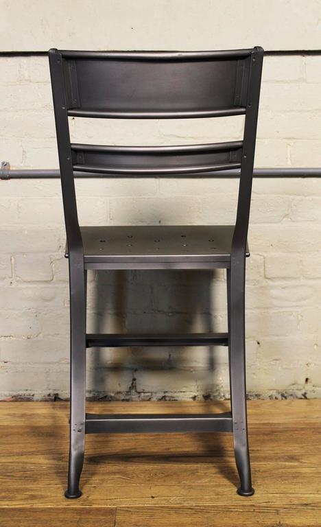 Dining Chair, Seat Vintage Industrial Mid Century Modern Steel / Metal Toledo  For Sale 1