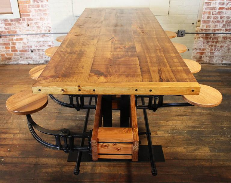Communal Pub Height & Restaurant Dining Table In Excellent Condition For Sale In Oakville, CT