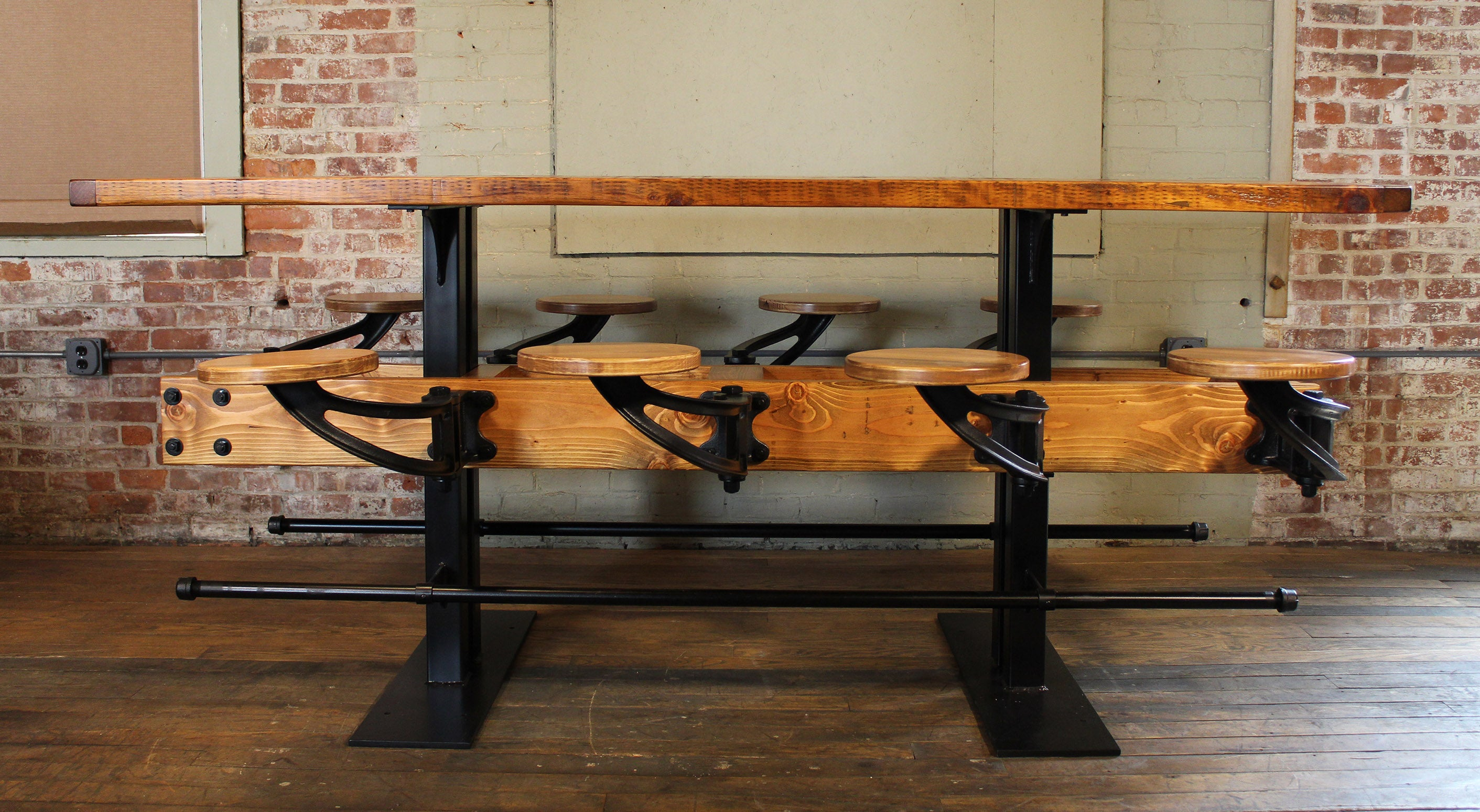 i counter height it unfinishedbenchfull love bar right built bench here seat create is the my after