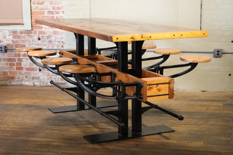 Communal Pub Height & Restaurant Dining Table For Sale 2