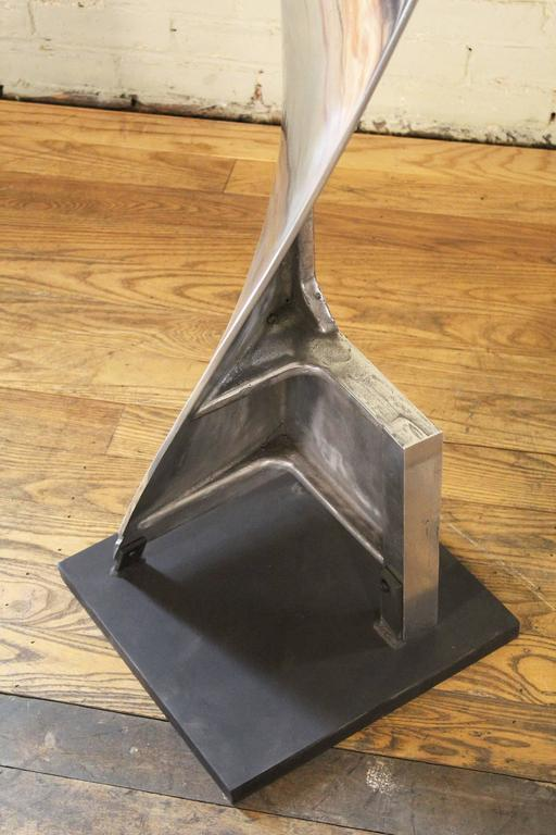 Aluminum Paper Mixing Blade Sculpture Model 1 In Good Condition For Sale In Oakville, CT