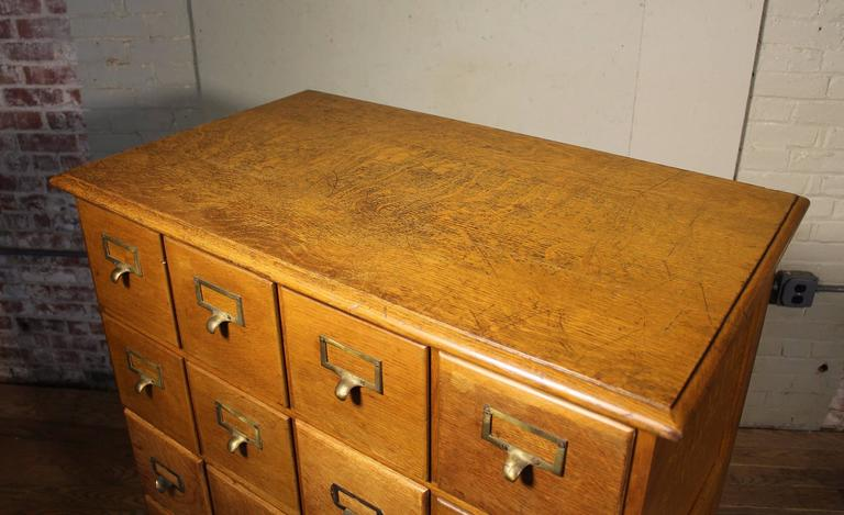 Vintage Industrial Multi-Drawer Oakwood Storage Cabinet For Sale 3