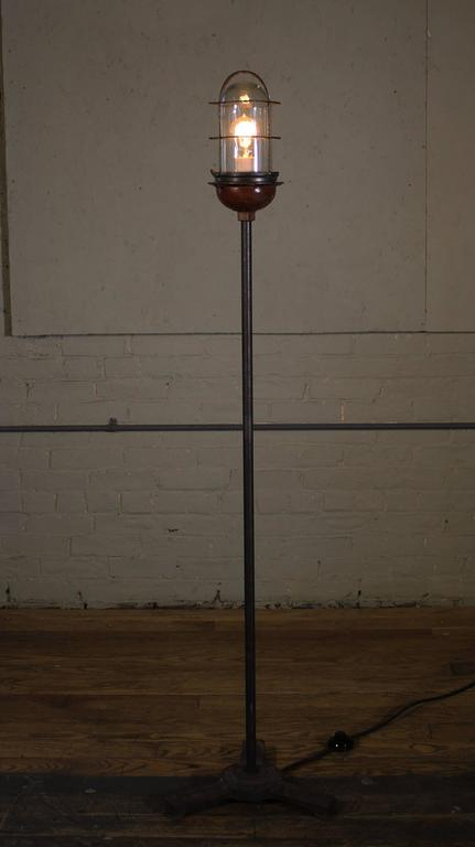Ghost Light Theater Stage Floor Lamp Glass Iron And