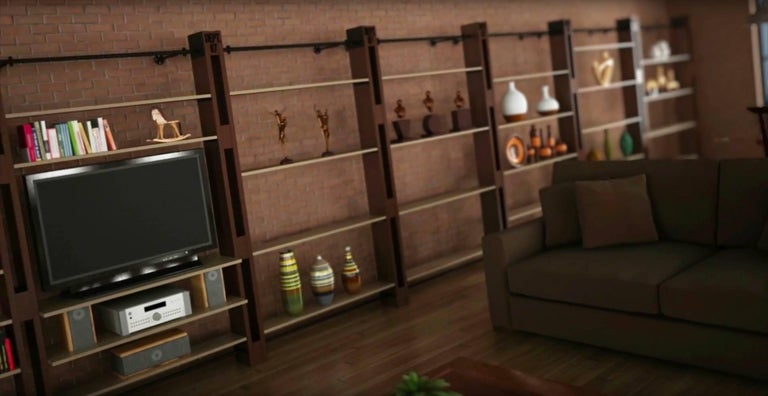 Shelving Storage Expandable Wall Unit Modular Custom Bookcase System For Sale 2