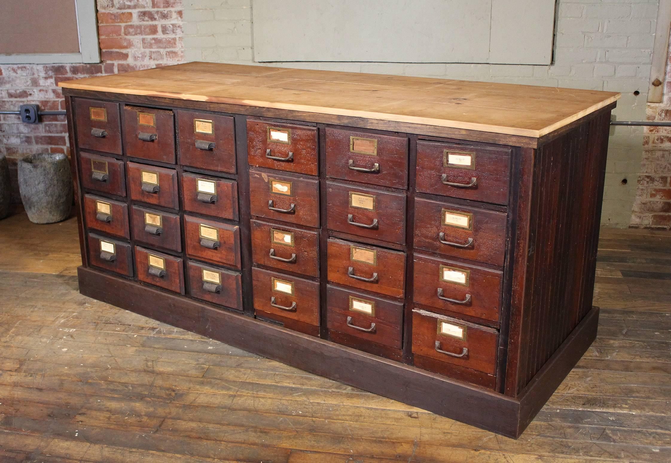 Apothecary Cabinet, Vintage Wooden Storage Store Counter Multi ...