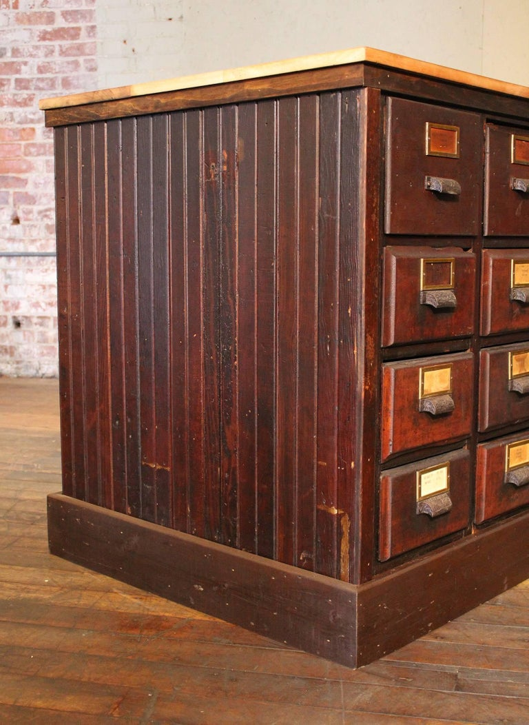 Apothecary Cabinet, Vintage Wooden Storage Store Counter Multi-Drawer For  Sale 2 - Apothecary Cabinet, Vintage Wooden Storage Store Counter Multi