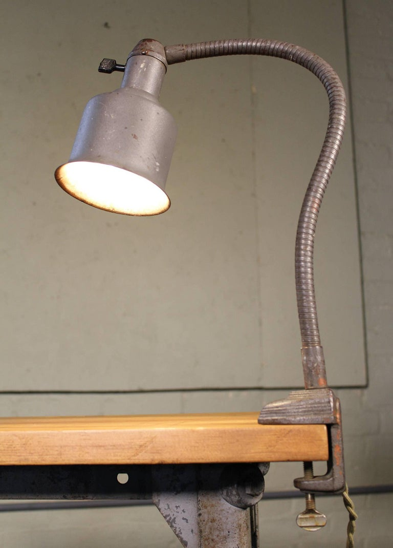 Clamp On Gooseneck Adjustable Light Lamp Art Deco