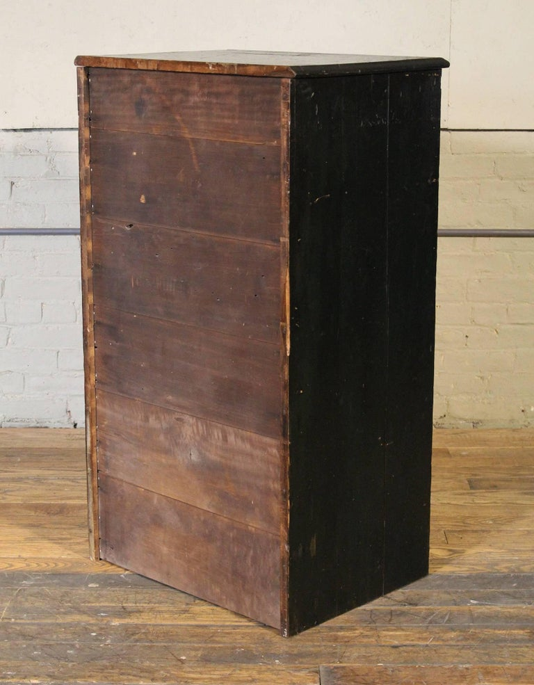 Storage Shelves With Wooden Cabinets ~ Wooden flat file storage cabinet vintage industrial multi