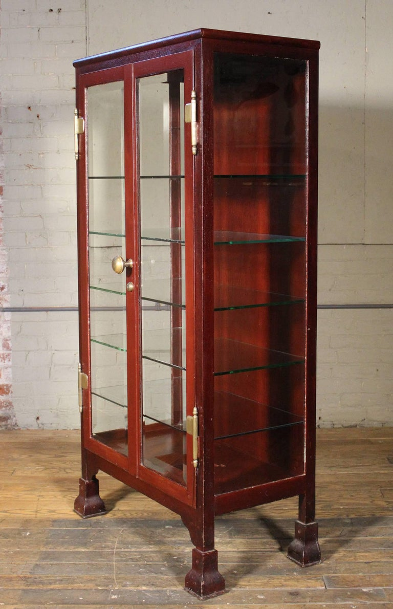 distressed curio cabinet curio cabinet glass and metal storage vintage 14850