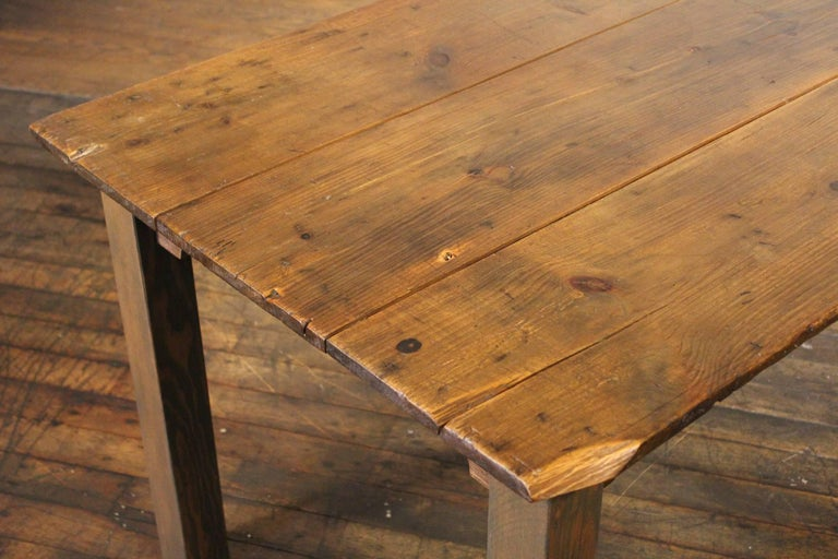 Farm Dining Table Reclaimed Tobacco Sorting Harvest Wood from Connecticut For Sale 3