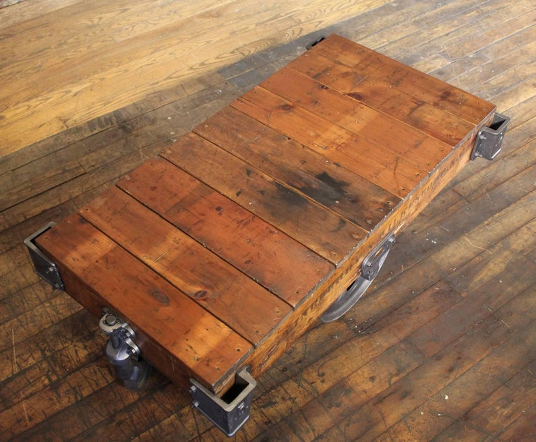 Vintage Industrial Rustic Wood And Cast Iron Factory