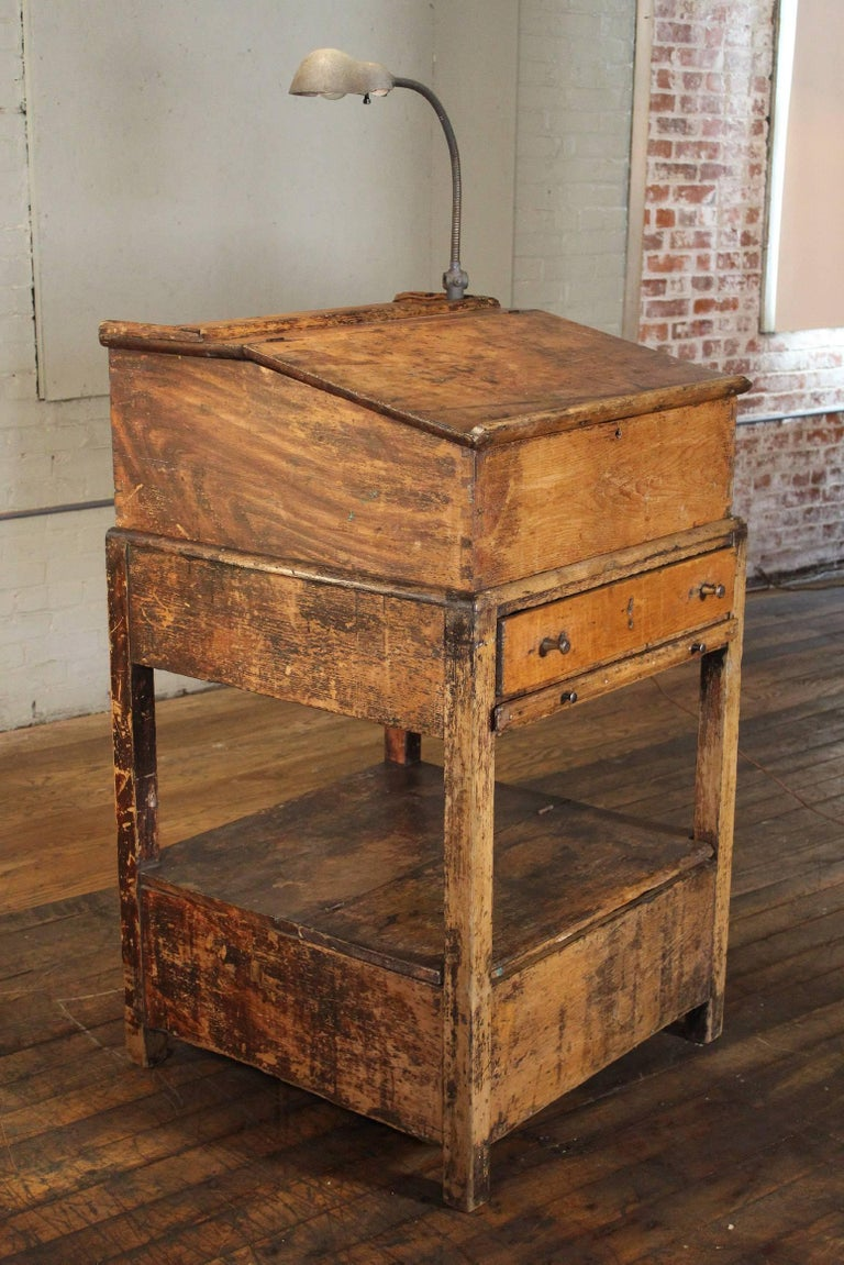 Hostess Stand Vintage Wooden Storage Table Standing