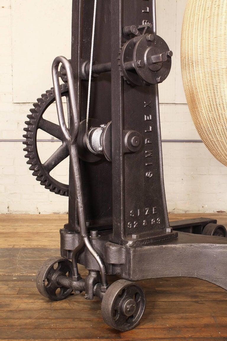 Rattan Engine Hoist Hanging Egg Chair For Sale