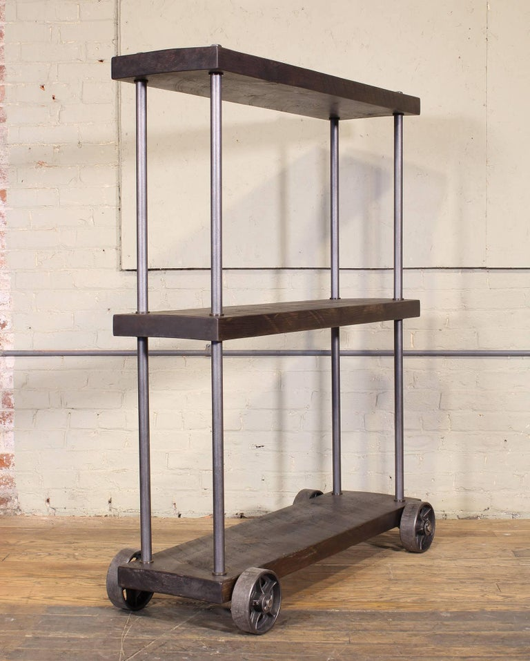 industrial rolling shelving storage rack bookcase  rough
