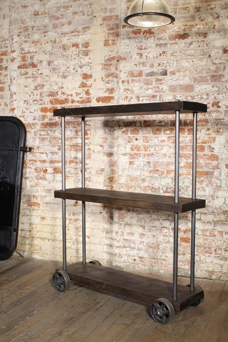 industrial rolling shelving storage rack bookcase rough. Black Bedroom Furniture Sets. Home Design Ideas