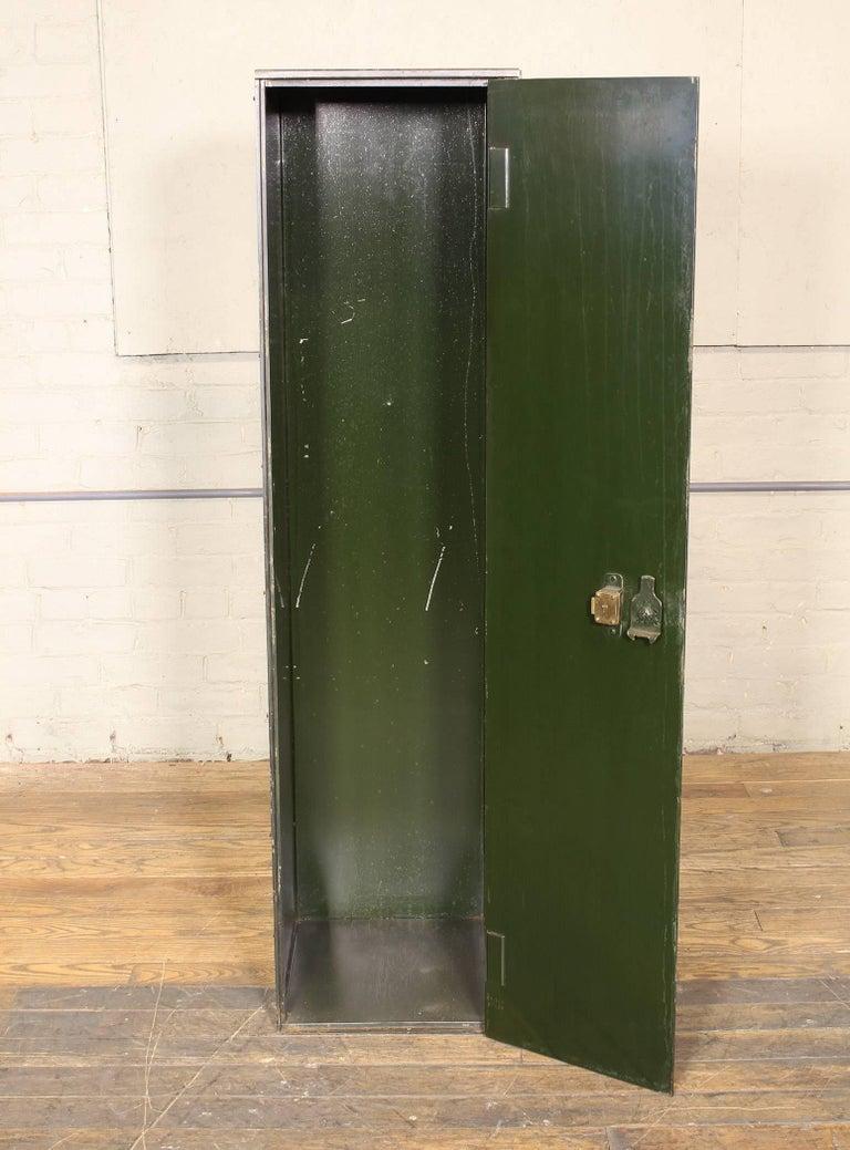 Vintage Distressed Steel Locker Upright Storage Cabinet 5