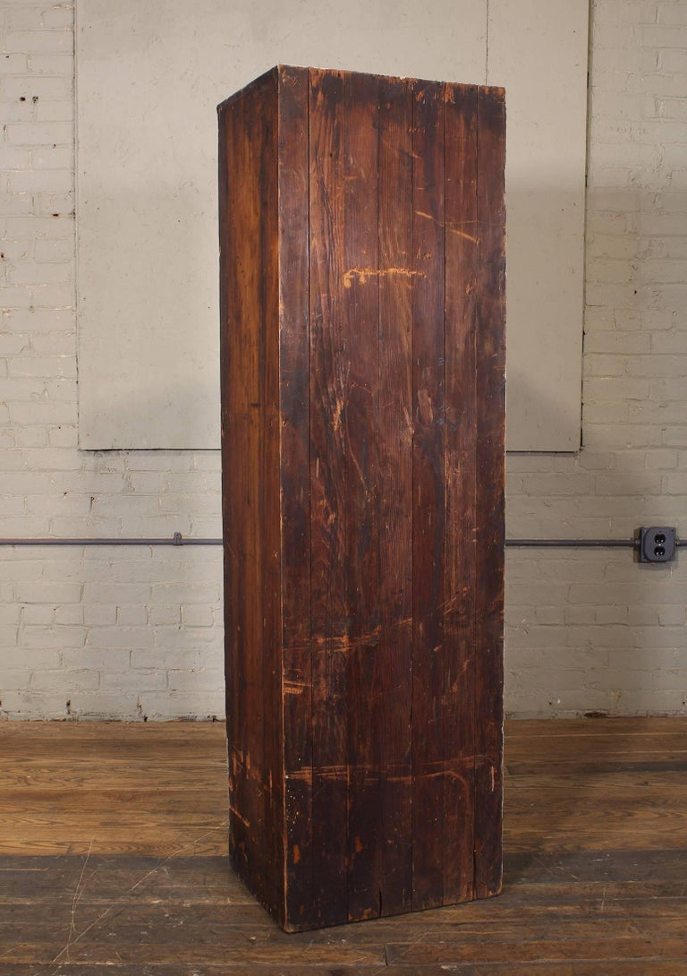 "Vintage Storage Gym Locker Wooden Cabinet ""Class of 1925"" For Sale 2"