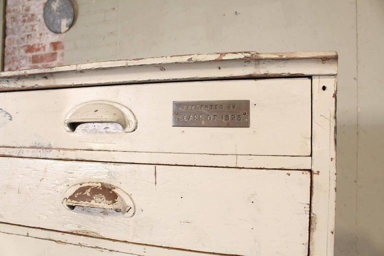 "Vintage Storage Gym Locker Wooden Cabinet ""Class of 1925"" For Sale 1"